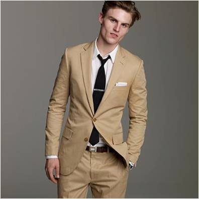 Mens Khaki Suit My Dress Tip