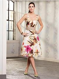 Gouache floral dress- talbots